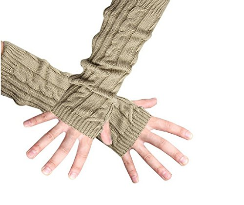 Eforcase Women's Knitted Crochet Gloves