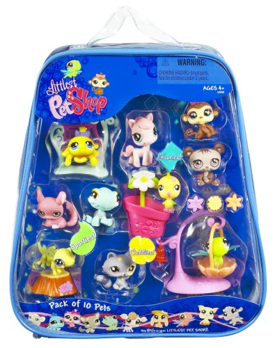 Buy Low Price Hasbro Littlest Pet Shop – 10 Pack of Pets Asst 1 Figure (B000XUALEM)