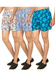 Truccer Basics Mens Printed Cotton Boxers Pack Of 3 - B017B78718
