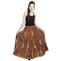 Kiran Udyog Ethnic Multi Floral Pure Cotton Skirt 564