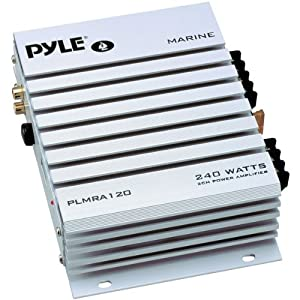 PYLE PLMRA120 240-Watt 2-Channel Waterproof Marine/Car Amplifier from Pyle