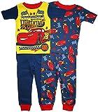 Disney Cars Lightning McQueen Little Boys 4 Pc Cotton Sleepwear Set