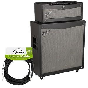 fender mustang v v 2 half stack bonus pak w guitar cable musical instruments. Black Bedroom Furniture Sets. Home Design Ideas