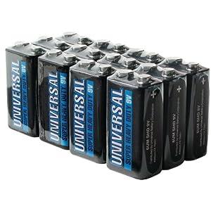 UNIVERSAL BATTERY D5326/D5926 Super Heavy-Duty Battery Value Box (9V 12-pk)