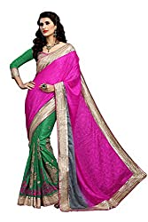 coolwomen women's chiffon embroidered free size fancy saree-cw_NMD2A216_pink_free size