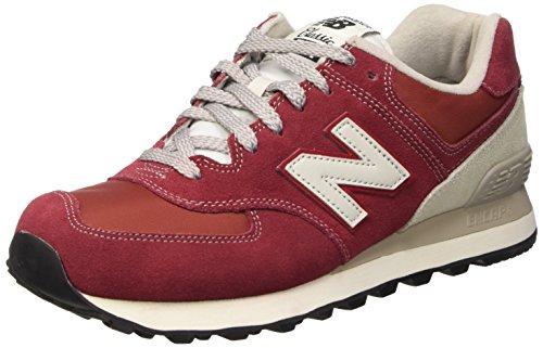 New Balance NBML574VBU Sneaker, Unisex, Rosso (Burgundy), 41.5