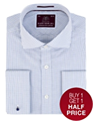 Sartorial Pure Cotton Checked Shirt
