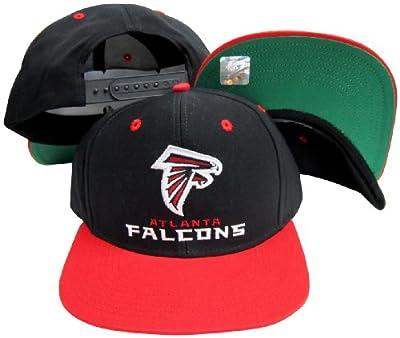 Atlanta Falcons Word Black / Red Two Tone Plastic Snapback Adjustable Plastic Snap Back Hat / Cap