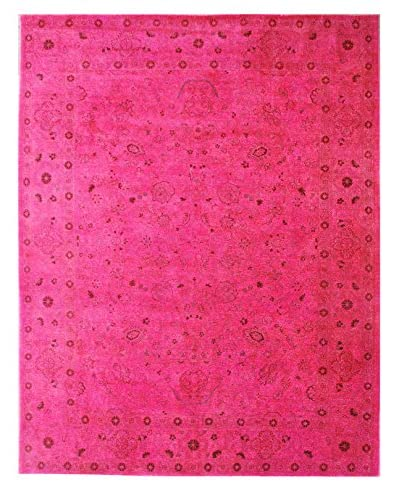 nuLOOM One-of-a-Kind Vintage Hand-Knotted Overdyed Rug, Magenta, 7' 10 x 10'