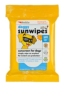 Petkin Petkin Doggy Sun Wipes Jumbo 20 instant sun protection Dog Puppy Pets from petkin