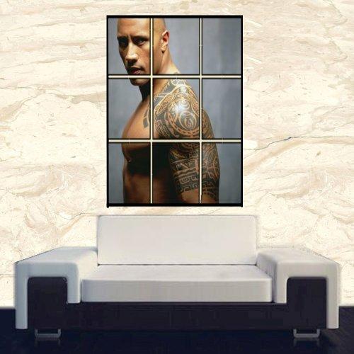 "Sale alerts for  DWAYNE (the rock) JOHNSON POSTER PRINT 26.5 "" X 35.5 "" DIGITAL WALL ART - Covvet"