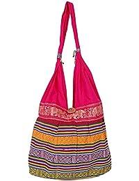 Fashion Bizz Women's Printed Multi Coloured Shoulder Bag / Traditional Bag / Jhola Bag