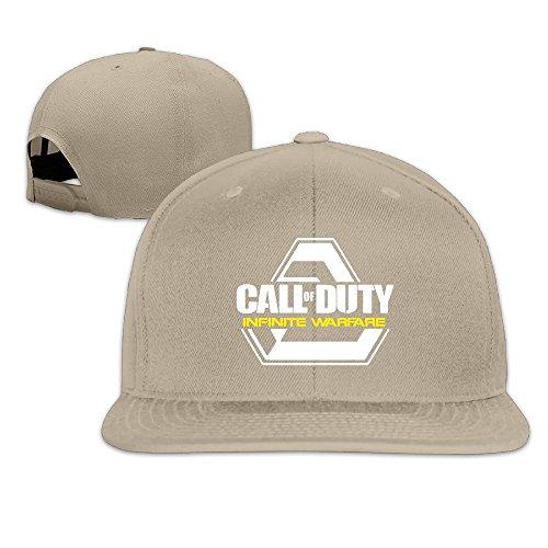 NUBIA Shooting Game Hip Hop Brim Hat Adjustable Flat Bill Hat Natural