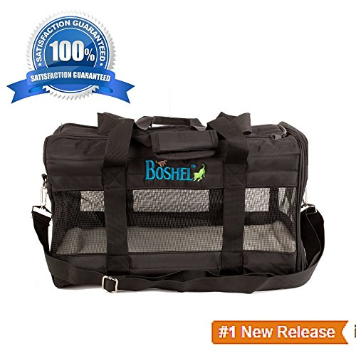 Pet Carrier Soft Sided Pet Travel Carrier – Airline Approved Soft Sided Pet Carriers By Boshel® – Safe, Comfortable and Easy to Store & Clean