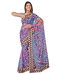 Sehgall Saree Indian Bollywood Designer Ethnic Professional Net Print With Fancy Border Saree Sari