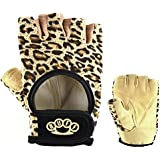 Leopard Weightlifting Gloves By RUFF ★ BEST Women's Fitness Gloves, 100% Vegan Leather, Comfortable Fit, Maximum Grip Strength, Reinforced Double-stitching. 100% Money-Back Guarantee!