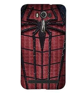 Printvisa Premium Back Cover Spider Man Web Design For Asus Zenfone 2 Laser ZE550KL::Asus Zenfone 2 Laser ZE550KL (5.5 Inches)