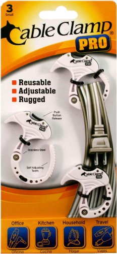 QA Worldwide CCP0135 Cable Clamp PRO Pack, 3 Small White