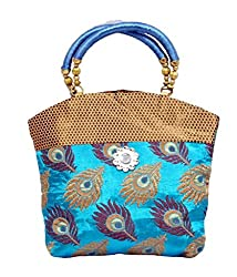 Kuber Industries Women's Mini Handbag 10*10 Inches (Blue)