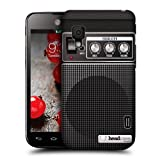 Head Case Designs Black Acoustic Guitar Amp Protective Snap on Hard Back Case Cover for LG Optimus L5 II Dual E455