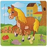 Gotd Wooden Horse Jigsaw Toys For Kids Education And Learning Puzzles Toys
