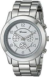 Geneva Women's 2365-silver-GEN  Stainless Steel Boyfriend Watch