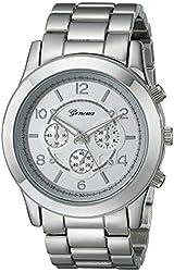 """Geneva Women's 2365-silver-GEN  """"Boyfriend"""" Watch"""