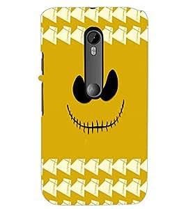 PrintDhaba Scary Smily D-3878 Back Case Cover for MOTOROLA MOTO G3 (Multi-Coloured)