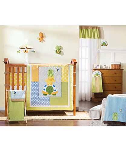 Spectacular Li l Kids pc Crib Bedding Set Lil Pond Pals