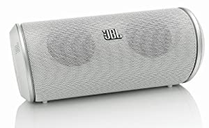 JBL Flip Rechargeable Portable Bluetooth Loud Speaker with UK/EU Mains Adapter and Built-In Mic Compatible with Smartphones, Tablets and MP3 Devices Including iPhone 4/4S/5/5S/5C/6/6 Plus, iPad 2/3/4/Air/Mini, iPod Nano 7th Generation, iPod Touch 5th Generation, Samsung Galaxy S2/S3/S4/S5, Galaxy Note 2/3, Galaxy Tab 2/3/4, Amazon Fire Phone, Xperia Z1/Z2, HTC One/One M8 and Google Nexus 5/7/10 - White