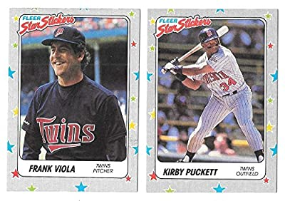 1988 Fleer Stickers - MINNESOTA TWINS Team Set