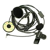 Media Cara Casco Moto Auricular Con Micrófono PTT Para 1 PIN Motorola Walkie Talkie TLKR T5 T6 T7 T8 PMR446 XTR446 XTL446 y Cobra y Gama Talkabout