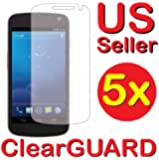 5x Samsung Galaxy Nexus Prime SCH-i515 Premium Invisible Clear LCD Screen Protector Kit (5 Piece Kit)