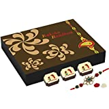 CHOCOCRAFT - Rakhi With Sweets - Rakhi With Chocolates - 9 Chocolate Gift Box With Rakhi