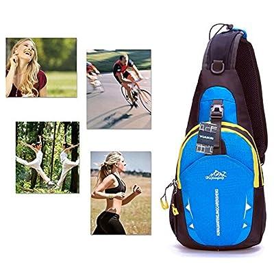 WOM-HOPE® Portable Multi-functional Waterproof Unisex Outdoor Sports Chest Pack Bum Bag Sling Bag Hiking Daypacks Adjustable Strap Shoulder Backpack Cross Body Bag - Hiking,Biking,Running
