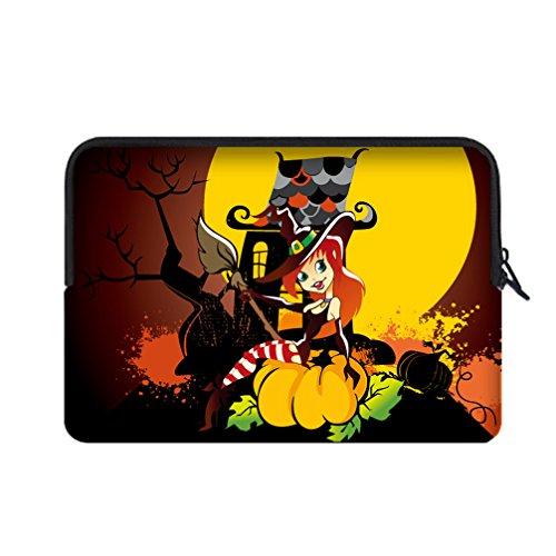 [JIUDUIDODO Neoprene Custom Cool Halloween Evil Jack with Bat Portable Macbook Air Bag Sleeve for Macbook Air 13