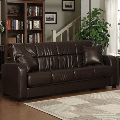 Sonora Convert-a-Couch Sofa Color: Brown