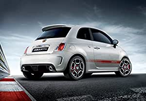 Amazon.com: Fiat 500 Abarth (2009) Car Art Poster Print on
