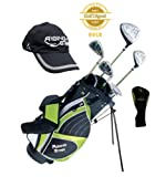 Paragon Rising Star Kids Golf Clubs Set / Ages 8-10 Green With Hat / Left-Hand