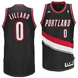 Portland Trailblazers Adidas NBA Damian Lillard #0 Swingman Jersey (Black)