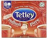 Tetley Redbush 80 Tea Bags (Pack of 3, Total 240 Tea Bags)