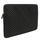 Laptop Sleeve Case Evecase 17-17.3 inch Diamond Foam Splash & Shock Resistant Neoprene Universal Case Bag for Chromebook Ultrabook Notebook - Black (Color: Black, Tamaño: 17 - 17.3 inch)
