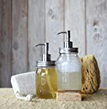 Mason Jar Soap Dispenser - Stainless Steel - Rust-proof! By Jarmazing Products. Lid and Pump with Tube for All Regular Mouth Jars.