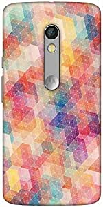 Snoogg Cool Pattern Designer Protective Back Case Cover For Motorola Moto X Play