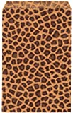 """200 pcs Leopard Print Paper Gift Bags Shopping Sales Tote Bags 6"""" x 9"""""""