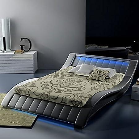 Muebles Bonitos - Cama Murano negro-180x200cm (Varias medidas disponibles)