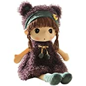 Hwd Lovely Huggable 17 Inch Stuffed Plush Girl Toy Doll.Good Gift For Kids Baby Lover.(Purple)