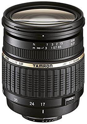 Tamron Zoom Super Wide Angle SP AF 17-50mm f/2.8 XR Di II LD Aspherical [IF] Autofocus Lens for Canon EOS Digital Cameras with 3 Piece Filter Kit (UV+CPL+FLD), Lens Pouch & Microfiber Cleaning Cloth