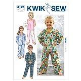 Kwik Sew K3126 Sleepwear Sewing Pattern, Size T1-T2-T3-T4