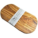 Naturally Med - Olive Wood Cutting Board / Cheese Board - 18 Inch